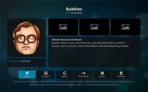 Bubbles Kodi Add-on