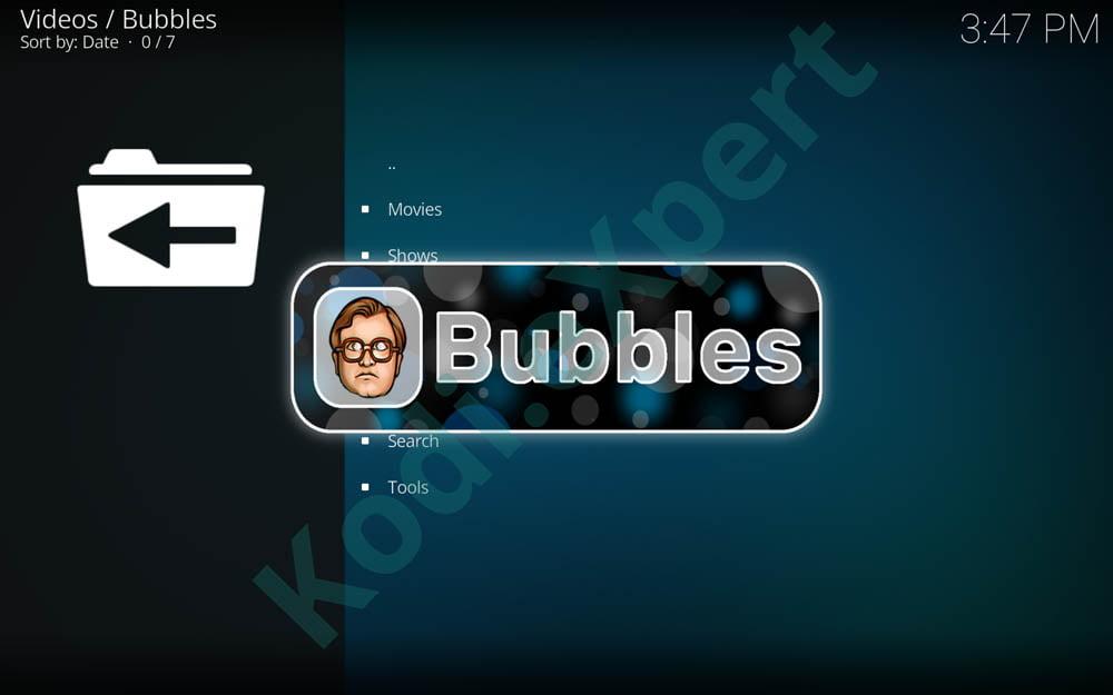 Bubbles addon Kodi step 20