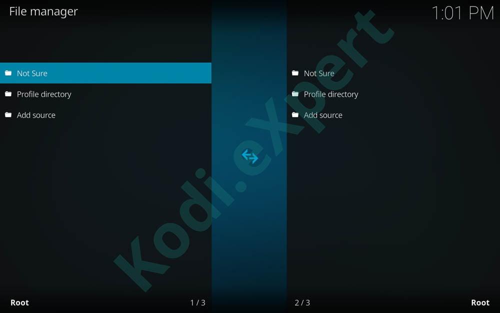 NotSure addon Kodi step 7