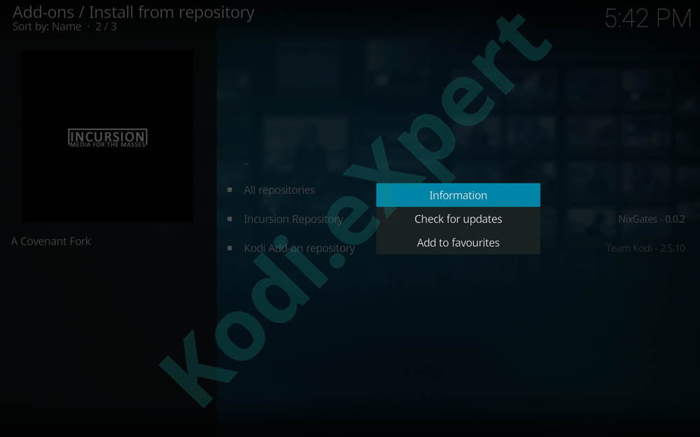 Incursion Kodi Addon – How to Install the Most Popular Kodi Addon