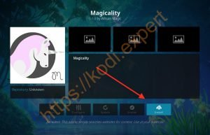 install magicality add on 2